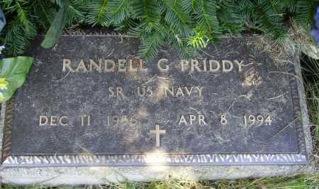 PRIDDY, RANDELL GAYLORD - Meigs County, Ohio | RANDELL GAYLORD PRIDDY - Ohio Gravestone Photos