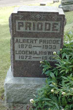 PRIODE, ALBERT - Meigs County, Ohio | ALBERT PRIODE - Ohio Gravestone Photos