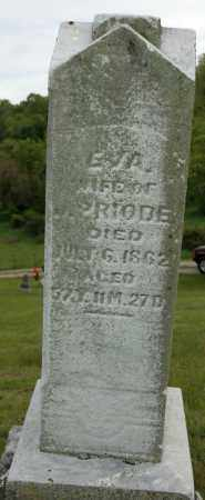 WESSA PRIODE, EVA - Meigs County, Ohio | EVA WESSA PRIODE - Ohio Gravestone Photos