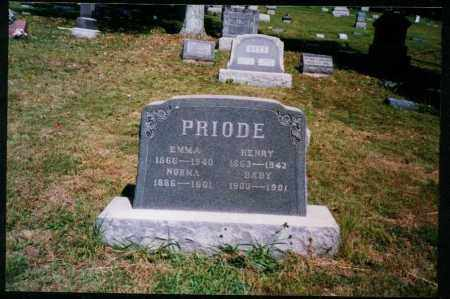PRIODE, BABY - Meigs County, Ohio | BABY PRIODE - Ohio Gravestone Photos