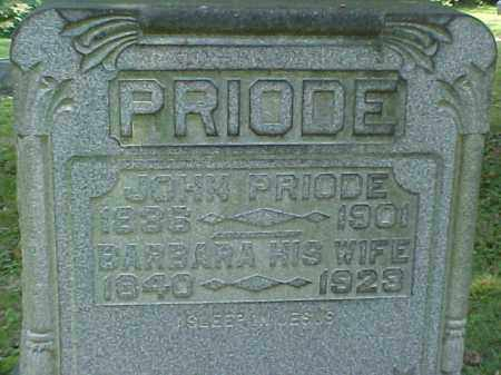 PRIODE, JOHN - Meigs County, Ohio | JOHN PRIODE - Ohio Gravestone Photos