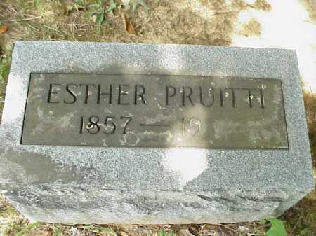PRUITTI, ESTHER - Meigs County, Ohio | ESTHER PRUITTI - Ohio Gravestone Photos