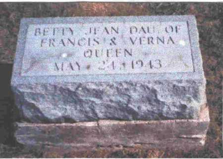 QUEEN, BETTY JEAN - Meigs County, Ohio | BETTY JEAN QUEEN - Ohio Gravestone Photos