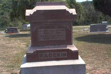 BARNES RADEKIN, MARY - Meigs County, Ohio | MARY BARNES RADEKIN - Ohio Gravestone Photos