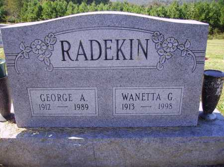 MORRISON RADEKIN, WANETTA G. - Meigs County, Ohio | WANETTA G. MORRISON RADEKIN - Ohio Gravestone Photos