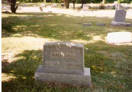 "RADFORD, JAMES ""BUD"" - Meigs County, Ohio 