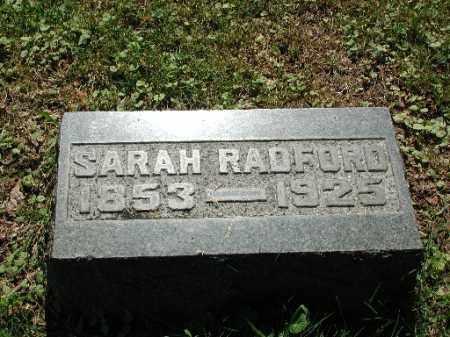RADFORD, SARAH - Meigs County, Ohio | SARAH RADFORD - Ohio Gravestone Photos