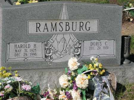 RAMSBURG, HAROLD H. - Meigs County, Ohio | HAROLD H. RAMSBURG - Ohio Gravestone Photos