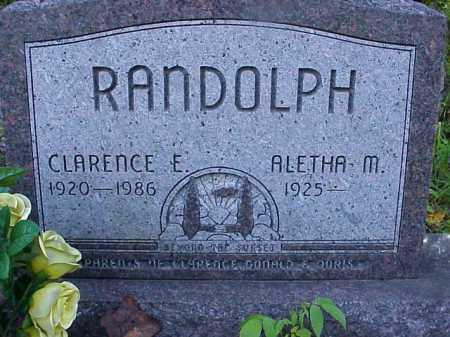 RANDOLPH, CLARENCE E. - Meigs County, Ohio | CLARENCE E. RANDOLPH - Ohio Gravestone Photos