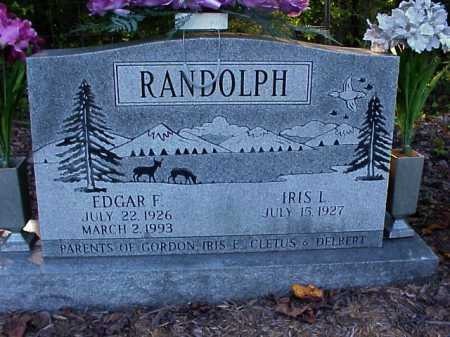 RANDOLPH, EDGAR F. - Meigs County, Ohio | EDGAR F. RANDOLPH - Ohio Gravestone Photos