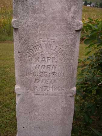 RAPP, JOHN WILLIAM - Meigs County, Ohio | JOHN WILLIAM RAPP - Ohio Gravestone Photos