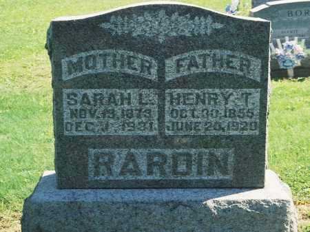 RARDIN, SARAH L. - Meigs County, Ohio | SARAH L. RARDIN - Ohio Gravestone Photos