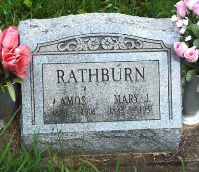 RATHBURN, MARY J. - Meigs County, Ohio | MARY J. RATHBURN - Ohio Gravestone Photos