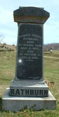 RATHBURN, FRANCIS ASBURY - Meigs County, Ohio   FRANCIS ASBURY RATHBURN - Ohio Gravestone Photos