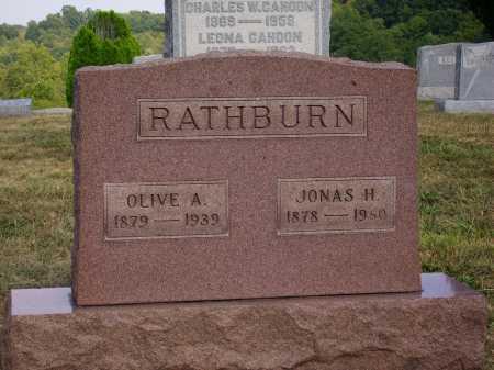 RATHBURN, JONAS H. - Meigs County, Ohio | JONAS H. RATHBURN - Ohio Gravestone Photos