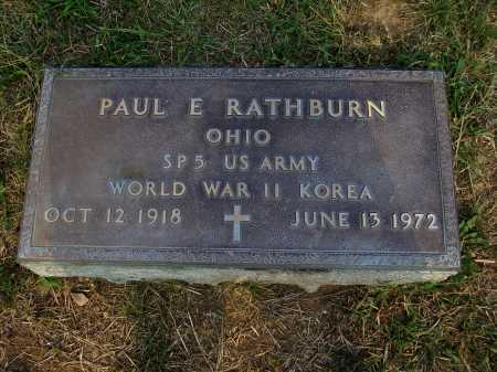 RATHBURN, PAUL E. - Meigs County, Ohio | PAUL E. RATHBURN - Ohio Gravestone Photos