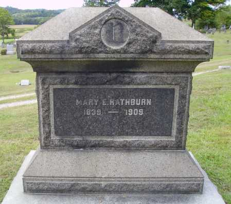 RATHURN, MARY E. - Meigs County, Ohio | MARY E. RATHURN - Ohio Gravestone Photos