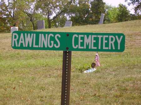 RAWLINGS, CEMETERY SIGN - Meigs County, Ohio | CEMETERY SIGN RAWLINGS - Ohio Gravestone Photos