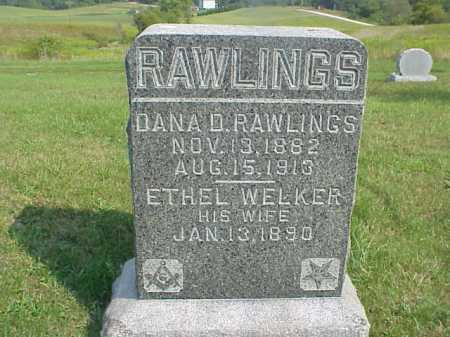RAWLINGS, DANA D. - Meigs County, Ohio | DANA D. RAWLINGS - Ohio Gravestone Photos