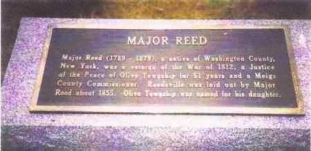 REED, MAJOR-PLAQUE - Meigs County, Ohio | MAJOR-PLAQUE REED - Ohio Gravestone Photos