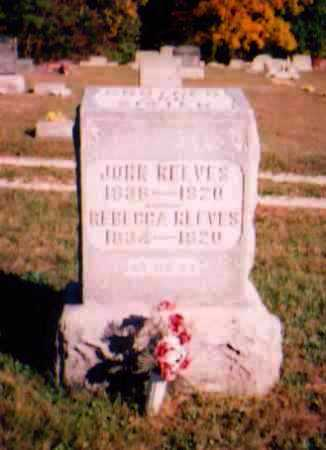 REEVES, JOHN - Meigs County, Ohio | JOHN REEVES - Ohio Gravestone Photos