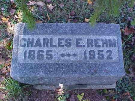 REHM, CHARLES E. - Meigs County, Ohio | CHARLES E. REHM - Ohio Gravestone Photos