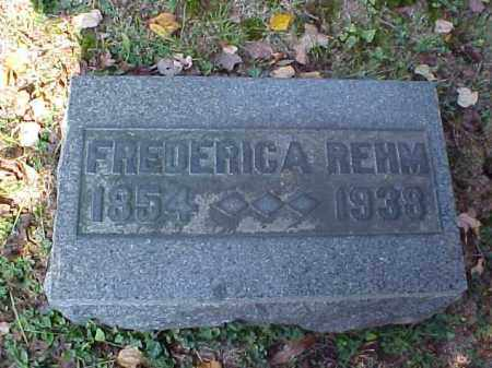REHM, FREDERICA - Meigs County, Ohio | FREDERICA REHM - Ohio Gravestone Photos