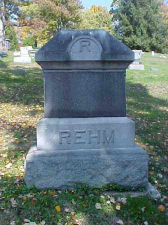 REHM, MONUMENT - Meigs County, Ohio | MONUMENT REHM - Ohio Gravestone Photos