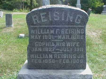REISING, WILLIAM F. - Meigs County, Ohio | WILLIAM F. REISING - Ohio Gravestone Photos