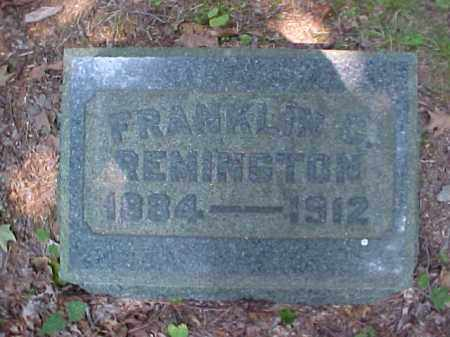 REMINGTON, FRANKLIN C. - Meigs County, Ohio | FRANKLIN C. REMINGTON - Ohio Gravestone Photos