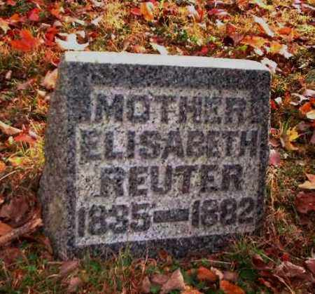 REUTER, ELISABETH - Meigs County, Ohio | ELISABETH REUTER - Ohio Gravestone Photos