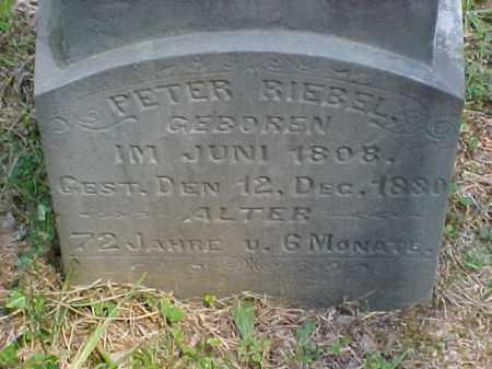 RIEBEL, PETER - Meigs County, Ohio | PETER RIEBEL - Ohio Gravestone Photos