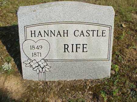 RIFE, HANNAH - Meigs County, Ohio | HANNAH RIFE - Ohio Gravestone Photos