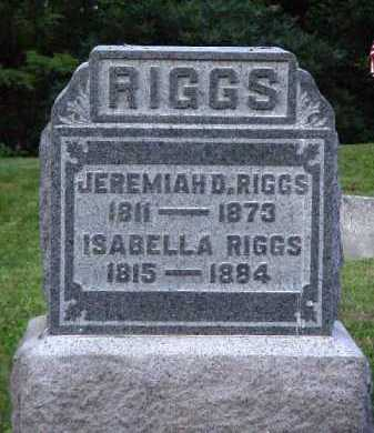 RIGGS, ISABELLA - Meigs County, Ohio | ISABELLA RIGGS - Ohio Gravestone Photos