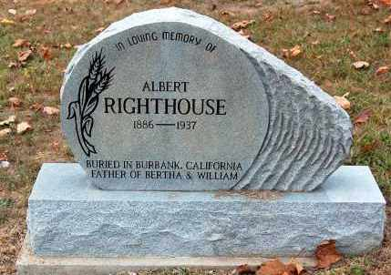 RIGHTHOUSE, ALBERT - Meigs County, Ohio | ALBERT RIGHTHOUSE - Ohio Gravestone Photos