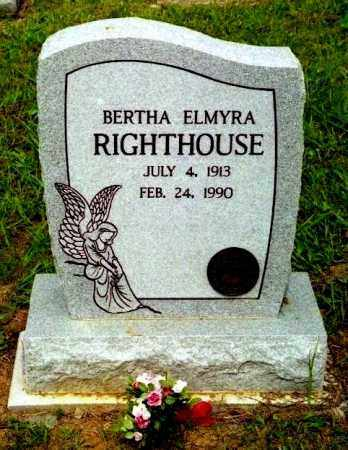 RIGHTHOUSE, BERTHA ELMYRA - Meigs County, Ohio | BERTHA ELMYRA RIGHTHOUSE - Ohio Gravestone Photos