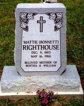BONNETT RIGHTHOUSE, MATTIE - Meigs County, Ohio | MATTIE BONNETT RIGHTHOUSE - Ohio Gravestone Photos