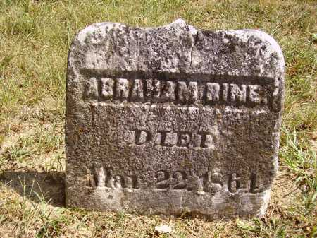 RINE, ABRAHAM - Meigs County, Ohio | ABRAHAM RINE - Ohio Gravestone Photos