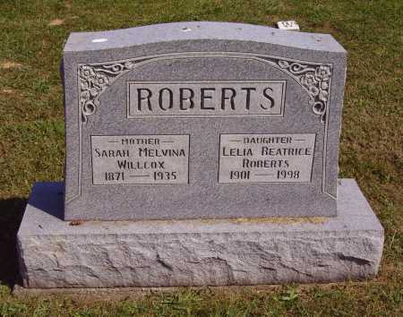 WILLCOX ROBERTS, SARAH MELVINA - Meigs County, Ohio | SARAH MELVINA WILLCOX ROBERTS - Ohio Gravestone Photos