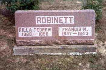 ROBINETT, FRANCIS M. - Meigs County, Ohio | FRANCIS M. ROBINETT - Ohio Gravestone Photos