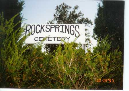 ROCKSPRING CEMETERY, SIGN - Meigs County, Ohio | SIGN ROCKSPRING CEMETERY - Ohio Gravestone Photos