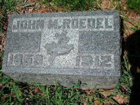 ROEDEL, JOHN M. - Meigs County, Ohio | JOHN M. ROEDEL - Ohio Gravestone Photos