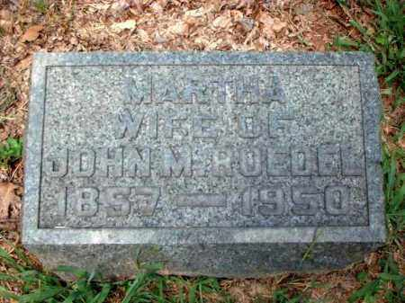 ROEDEL, MARTHA - Meigs County, Ohio | MARTHA ROEDEL - Ohio Gravestone Photos