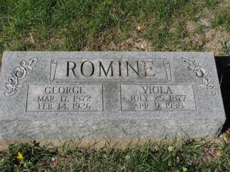 ROMINE, GEORGE - Meigs County, Ohio | GEORGE ROMINE - Ohio Gravestone Photos