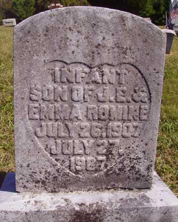 ROMINE, INFANT SON - Meigs County, Ohio | INFANT SON ROMINE - Ohio Gravestone Photos