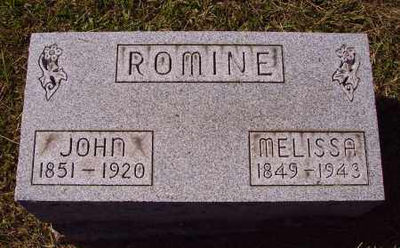 CHAMBERLAIN ROMINE, MELISSA - Meigs County, Ohio | MELISSA CHAMBERLAIN ROMINE - Ohio Gravestone Photos