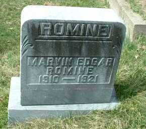 ROMINE, MARVIN EDGAR - Meigs County, Ohio | MARVIN EDGAR ROMINE - Ohio Gravestone Photos