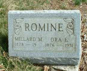 ROMINE, ORA E. - Meigs County, Ohio | ORA E. ROMINE - Ohio Gravestone Photos