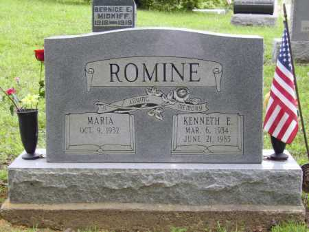 ROMINE, MARIA - Meigs County, Ohio | MARIA ROMINE - Ohio Gravestone Photos