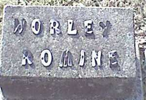 ROMINE, WORLEY - Meigs County, Ohio | WORLEY ROMINE - Ohio Gravestone Photos
